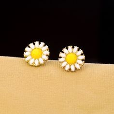 Lovely Floral Stud Earrings With Gold Plated Material  - New In