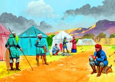 Byzantine Camp life on campaign in Armenia
