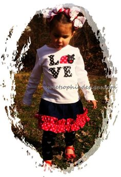 Love Bug Valentine Shirt  Toddler up to Youth Girl Sizes