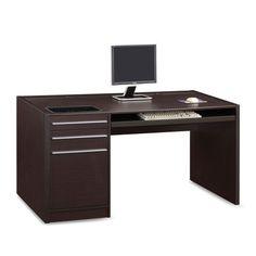Ontario Single Pedestal Desk Coaster Furniture Writing Desks Home Office Furniture