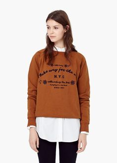 Message cotton sweatshirt -  Women | MANGO