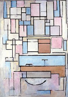 Composition avec plans de couleur, 1914, Piet Mondrian