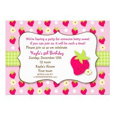 Free strawberry shortcake invitation template zyeon birthday strawberry shortcake birthday invitation template free filmwisefo Gallery