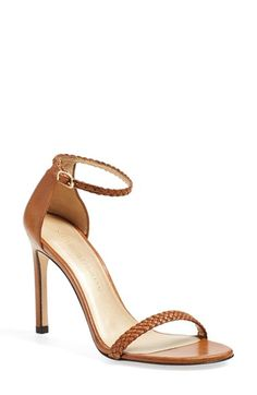 """Stuart Weitzman Barebraid Ankle Strap Sandal ❤︎.❤︎...""""How to make all heels comfortable - see tips on you tube  at    https://www.youtube.com/watch?v=OwGBW17fdxU   ...also see hopscotch in 4 inch heels!!..."""