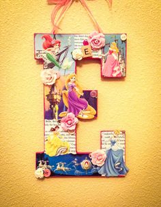 Any group of princesses 11 wooden letter with by SpikaInteriors