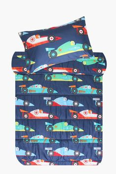 Our Race Car comforter set, made with polyester has a hollow fibre inner. The comforter is filled with action race car icons is an effective way to ad