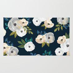 florals on a dark navy/black background.<br/>  <br/> <br/> nature, flowers, floral, blooms, bouquet, arrangement, painting
