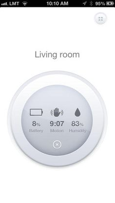 Istabai home automation iPhone app by Gustavs Cirulis - motion & humidity readings