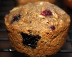 Oatmeal Berry Muffins via two peas & their pod (These muffins are healthy AND delicious. They used whole wheat flour, oats, and applesauce)
