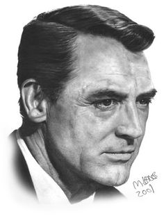Cary Grant Pencil Portraits by Matthew Leader