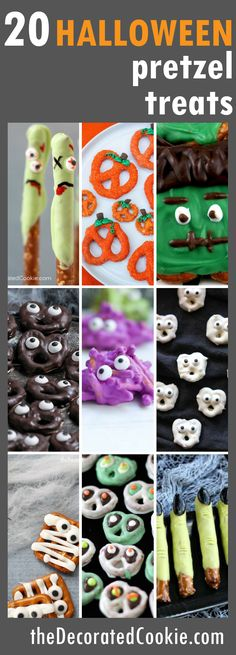 20 Halloween pretzel treats roundup - The Decorated Cookie