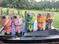 Hydro dipped in spray paint -cups