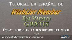 Vídeo promo de tutorial en español de WishList Member.  Magnífico curso en español de este  plugin para wordpress, Realizado en vídeo de alta calidad. Se explica paso a paso como crear un área de miembros y proteger todo el contenido