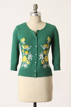 From-The-Green Cardi #anthropologie tabitha