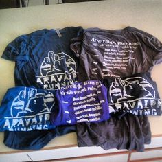 New comfy tri-blend shirts in men's and women's styles available at www.aravaiparunningshop.com