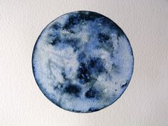 Custom watercolour planet/moon by LauraPaintsPictures on Etsy