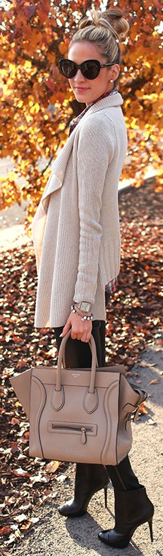 So chic and lovely. Love the glasses! #Fall Leaves by Ivory Lane