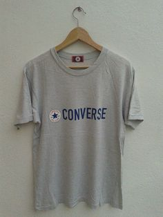 948bc90ee4ee 15% SPRING SALE Retro Vintage 80s Converse All Star Chuck Taylor Chest  Spellout Graphic T
