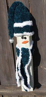 4 x 4 snowman, wooden snowman,snowman