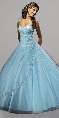 Aqua Quinceanera Dresses by Mori Lee
