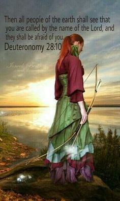"""Deuteronomy """"""""And all the peoples of the earth will have to see that Jehovah's name has been called upon you, and they will be afraid of you. New World Translation) Compare: Divine Name King James Bible,& Rotherhams Translation. Bride Of Christ, Armor Of God, Daughters Of The King, Women Of Faith, Prayer Warrior, Spiritual Warfare, Warrior Princess, Godly Woman, Spiritual Inspiration"""