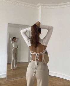 Mode Outfits, Trendy Outfits, Fashion Outfits, Womens Fashion, Aesthetic Fashion, Aesthetic Clothes, Urban Outfitters Clothes, Urban Outfitters Style, Backless Top