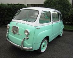 Fiat 600D Multipla  (1964) wish I could get one of these to squeeze the bridesmaids into...