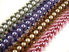 Flat Spiral Bracelet  ~ Seed Bead Tutorials                                                                                                                                                                                 More
