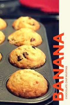 Amazing Banana Chocolate Chip Muffins www.prettypetunias.com