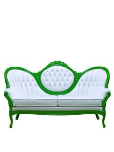Would love to paint and reupholster a vintage couch to look like this!