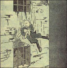 """Hergé - Tintin """"Oreille cassée"""" - Cover for Le Petit Vingtième magazine, Aug. Lotus Bleu, Captain Haddock, Herge Tintin, Thompson Twins, Ligne Claire, Up Book, Vintage Cartoon, Art Reference, Comic Art"""