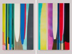 Dion Johnson's colorful oversized paintings