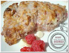 Raspberry White Chocolate Scones - yum!! -Momo