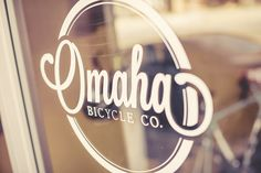 Simple and clean /// Omaha Bicycle Co. Bicycle Illustration, Graphic Design Illustration, Logo Branding, Branding Design, Typography Design, Lettering, Great Logos, Environmental Design, Bicycle Design