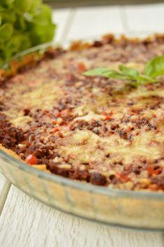 Vegetarisk färspaj med kikärtspajskal Lchf, Quiche, Macaroni And Cheese, Curry, Breakfast, Ethnic Recipes, Food, Breakfast Cafe, Curries