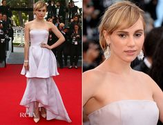 Suki Waterhouse In Christian Dior – 'The Homesman' Cannes Film Festival Premiere