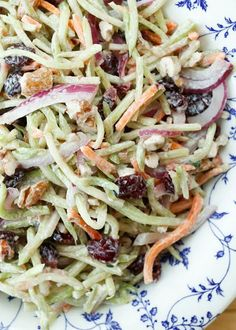 Sweet and Tangy Broccoli Slaw is a light summer side perfect for any ...