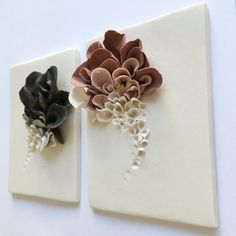 Ceramic Wall Art, Ceramic Clay, Tile Art, Porcelain Clay, Wall Tile, Ceramic Decor, Clay Flowers, Ceramic Flowers, Flower Wall Decor