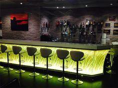 Tapisserie Shisha bar avec nom murale