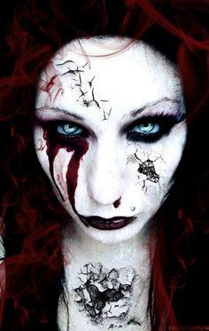 broken doll makeup inspiration