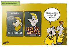 Der RevierSport Cartoon für morgen #cartoon #fcbayern #bvb #reviersport #lustig #fussball #hilbring #oli #gerüchteküche by oliscartoons