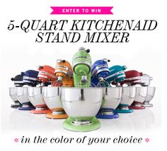 bubblegum pink kitchenaid mixer might actually inspire me to spend