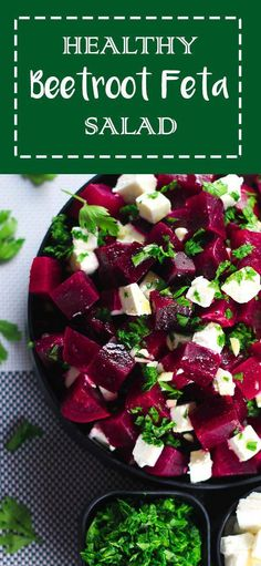 and Feta Cheese Salad Healthy Beetroot and Feta Salad - This salad has the perfect balance of sweet and salty from the beetroot and feta cheese - SO good! Super healthy and tastes even better! Healthy Salad Recipes, Healthy Snacks, Vegetarian Recipes, Cooking Recipes, Super Food Recipes, Healthy Smoothies, Beetroot And Feta Salad, Beetroot Recipes Salad, Beetroot Soup