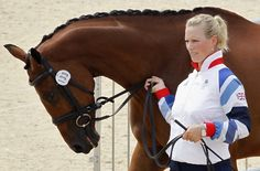 Britain's Zara Phillips and her horse High Kingdom take part in the Equestrian Eventing horse inspection at the London 2012 Olympic Games in Greenwich Park, July 27, 2012.