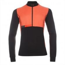 Paul Smith 531 Black Merino Wool Cycling Jersey With Windproof Panels