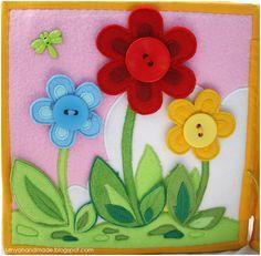 Танины рукодельности: Книжка для маленькой девочки Калист button on flowers picture