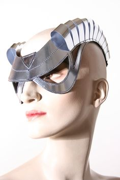 cyborg goggles with horns futuristic sci fi cyber by divamp