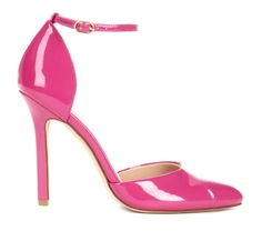 Almond toe pump with ankle strap