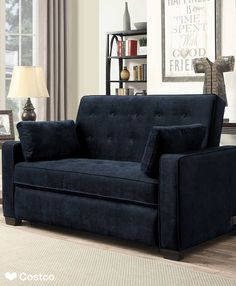 The Westport Fabric Sleeper Sofa in Navy Blue is sure to be a favorite in any home. The Westport features 2 power outlets and 2 USB ports which allows you to relax and recharge yourself as well as all of your favorite electronics. This signature piece is built by blending contemporary looks with luxury seating and sleeping.