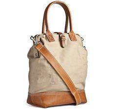 Handmade Canvas & Leather Carryall Bag